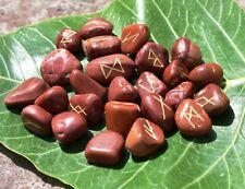 Natural Red Jasper Stones Rune Set  Tumble Stones 25 PC Healing Reiki