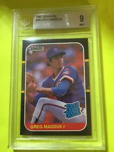1987 Donruss Greg Maddux #36 BGS 9 with 9.5 Corners and 9.5 Edges