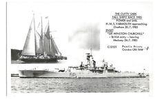 Modern Postcard Tall Ships Race 1985 HMS Yarmouth Chatham Pamlin Prints   (B4l)