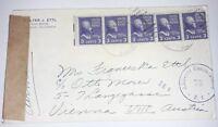 Alliierte Zensurstelle Z. 1 73 Brief Chicago USA 1952 Besetzung Österreich (80