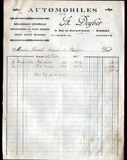 "BOURGES (18) GARAGE AUTOMOBILE ""A. DEYBER"" en 1928"