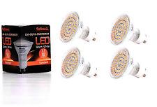 4X GU10 LED Lampe von Seitronic mit 3,5 Watt, 300LM und 60 LEDs Warm weiß 2900K