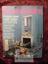 RARE House & and Garden MARCH 1972 Architecture Decoration Design Gardening