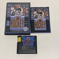 NHL Hockey (Sega Genesis, 1991) Box, Game and Manual