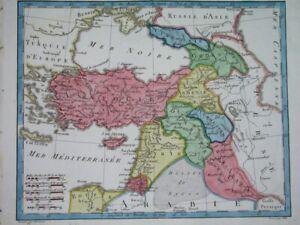 1806 RARE ORIGINAL MAP ARMENIA CYPRUS ISRAEL TURKEY PALESTINA GEORGIA JORDAN