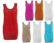 Unbranded Women's No Pattern Sleeveless Scoop Neck Tops & Shirts