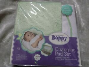The Original Boppy Changing Pad Set Plush Cover Terry Waterproof Liner NEW!