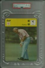 1977-79 Sportscaster #41-05 Arnold Palmer Putting Italy PSA 8 NM-MT Golfing Card