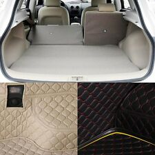 PU Leather Rear Trunk Cargo Liner Protector Mat Seat Back Pad For Nissan Qashqai
