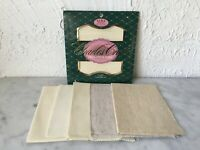 Lot of Charles Craft 14 18 Count Cross Stitch Aida Fabric 6 Pieces Ivory Natural