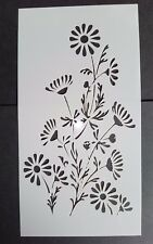 Tall Flower Stencil Card Making Scrapbooking Airbrush Painting Home Decor Cakes