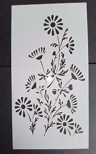 Daisy Flower Stencil Card Making Scrapbooking Airbrush Painting Home Decor Cakes