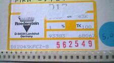 Mulinello parziale Vishay 4500pcs+ D12 0805 43K 1% SMD Resistori in pellicola spessa fissa