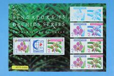 Singapore 1995 Souvenir Proof Sheet Orchids Limited Edition MNH 4572/5000