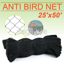 25' X 50' Bird Netting Chicken Protective Net Screen Poultry Garden Aviary Game