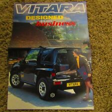 SUZUKI VITARA 3 Door Commercial Soft Top UK Market Large Brochure June 1993