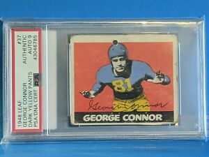 George Connor 1948 Leaf signed/auto - PSA/DNA - Notre Dame Collection POP 2
