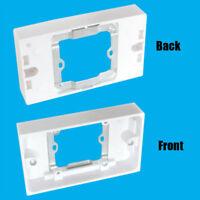 Single 1 Gang to 2 UK 3Pin Plug Double Wall Socket Converter Adaptor & Dual USB