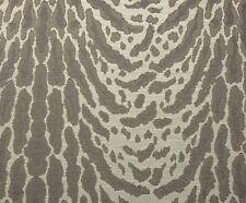 "BALLARD DESIGNS ARTEMIS GRAY FAUX BOIS ANIMAL JACQUARD FABRIC BY YARD 54""W"
