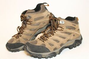 Merrell J88623 Moab Mid Waterproof Earth Mens 8 41.5 Suede Mesh Hiking Boots