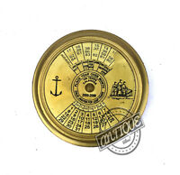 Christmas Christmas MARITIME OLD LONDON BRASS 100 YEARS COMPASS NAUTICAL CALEND