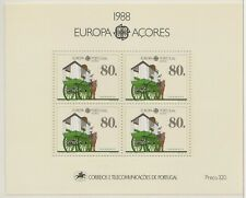 Europa CEPT 1988 Transport Azoren Blok 9 - cat waarde € 12