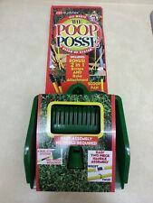 New in Box Pet Buddies Poop Posse Dog Waste Clean Up System 2 Handle Scrape Rake