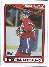 1990-91 Topps #388 Stephan Lebeau Rookie Hockey Card Mint