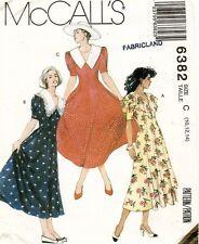 1990's Vintage McCall's Misses'  Dress Pattern 6382 Size 10-14 UNCUT