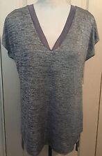 BNWT Zara Women Grey Shimmery V Neck Sleeveless Blouse Shirt Top Size M