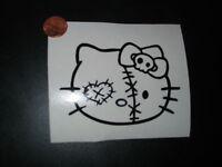 drift sticker jdm retro vinyl dope skull kitty walking dead zombie lot of 2