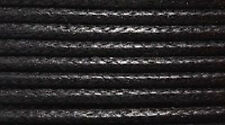 "WAX COTTON CORD Size 0.5-0.7 mm "" BLACK "" 15 feet"
