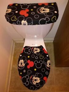 Mickey Mouse Fleece Toilet Lid & Tank Cover Set