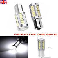 2Pcs LED Car White Bulb BA15S P21W 1156 Backup Reverse Light 33-SMD 5630 New