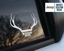 Jeep Wrangler wild deer antlers window sticker decals graphic