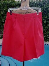 Vintage 80's Koret Francisca Petites Size 14P Bright Pink Pleated Shorts