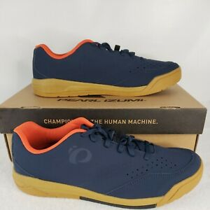 Size 12.5  Pearl Izumi Mens X-Alp Flow  Mountain Cycling Shoe Navy Blue