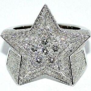 6.00 CT Round Cut Diamond Star Wending Pinky Band Ring 14K White Gold Finish