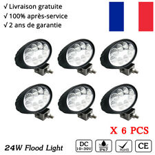 6X Phare de travail 24W Oval LED Work light Conduite Voiture 4x4 Jeep Offroad