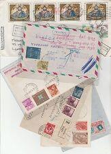 STORIA POSTALE 1949/89 REPUBBLICA LOTTO 6 LETTERE ( 2 RACCOMANDATE) Z/6471