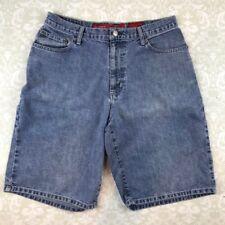Mens 32 Denim Jean Shorts Quiksilver Vintage Retro Stonewashed Junior Relaxed