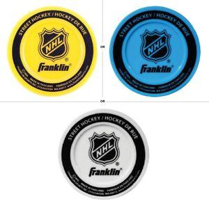 Franklin Sports NHL Logo Molded PVC, Street Hockey Puck - Colors Vary