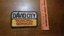VINTAGE DAVID CITY NEBRASKA MUNICIPAL SERVICES POLICE 1950'S   PATCH  BX x #12
