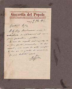 LETTERA SU CARTA INTESTATA GAZZETTA DEL POPOLO DI TORINO 1915  20-2