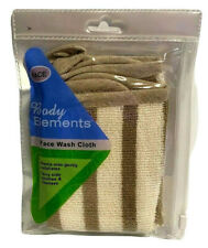 BODY ELEMENTS Terry Ramie Exfoliating Face Wash Cloth NEW 10x10 by Upstage
