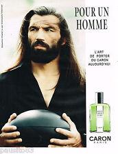PUBLICITE ADVERTISING 065  2009  CARON eau de toilette homme SEBASTIEN CHABAL