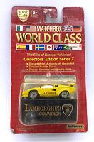 1/64 Match Box World Class Lamborghini Countach LP5000S Yellow WC005