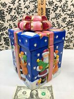 Christmas Present Cookie Jar Vintage (hard to find) In mint conditions JCPENNEY