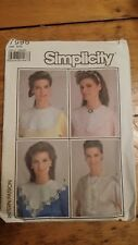 VINTAGE SIMPLICITY LADIES DRESS COLLAR PATTERN 7995 ONE SIZE FREE SHIPPING