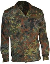 More details for german flecktarn field shirt - army military camo fatigue airsoft paintball new